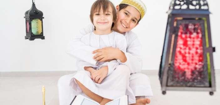 Islamic girl and boy photo